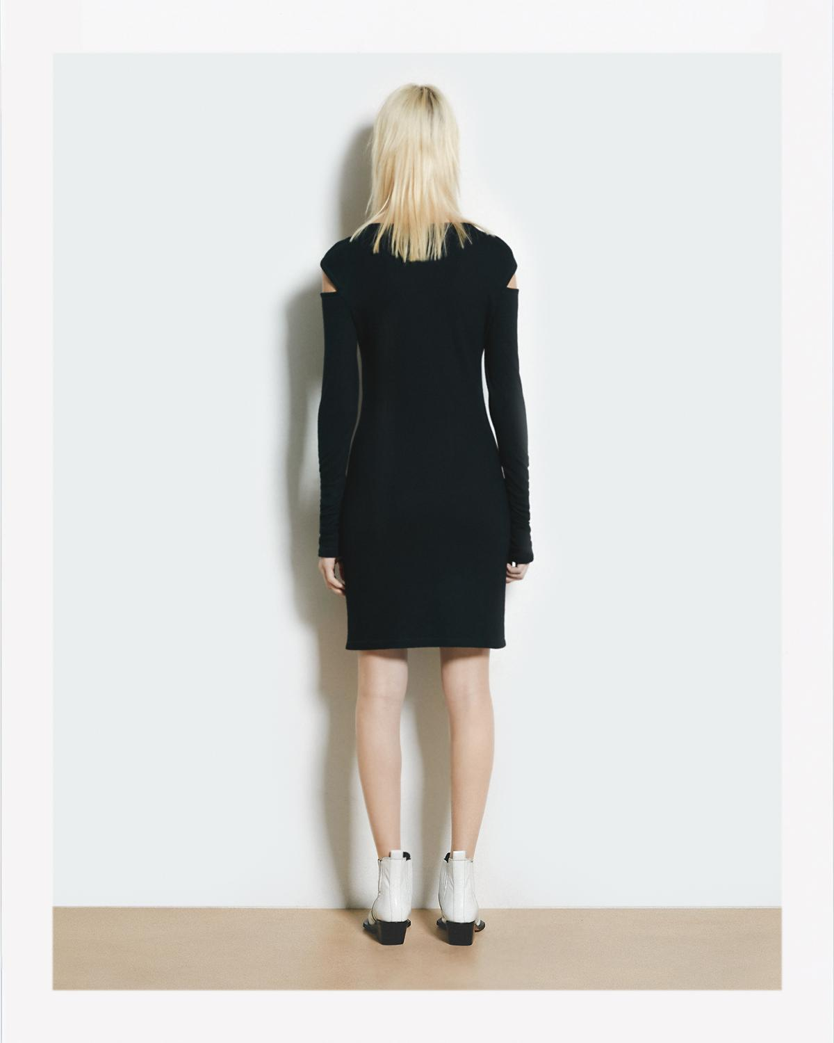 SLASH WOOL DRESS