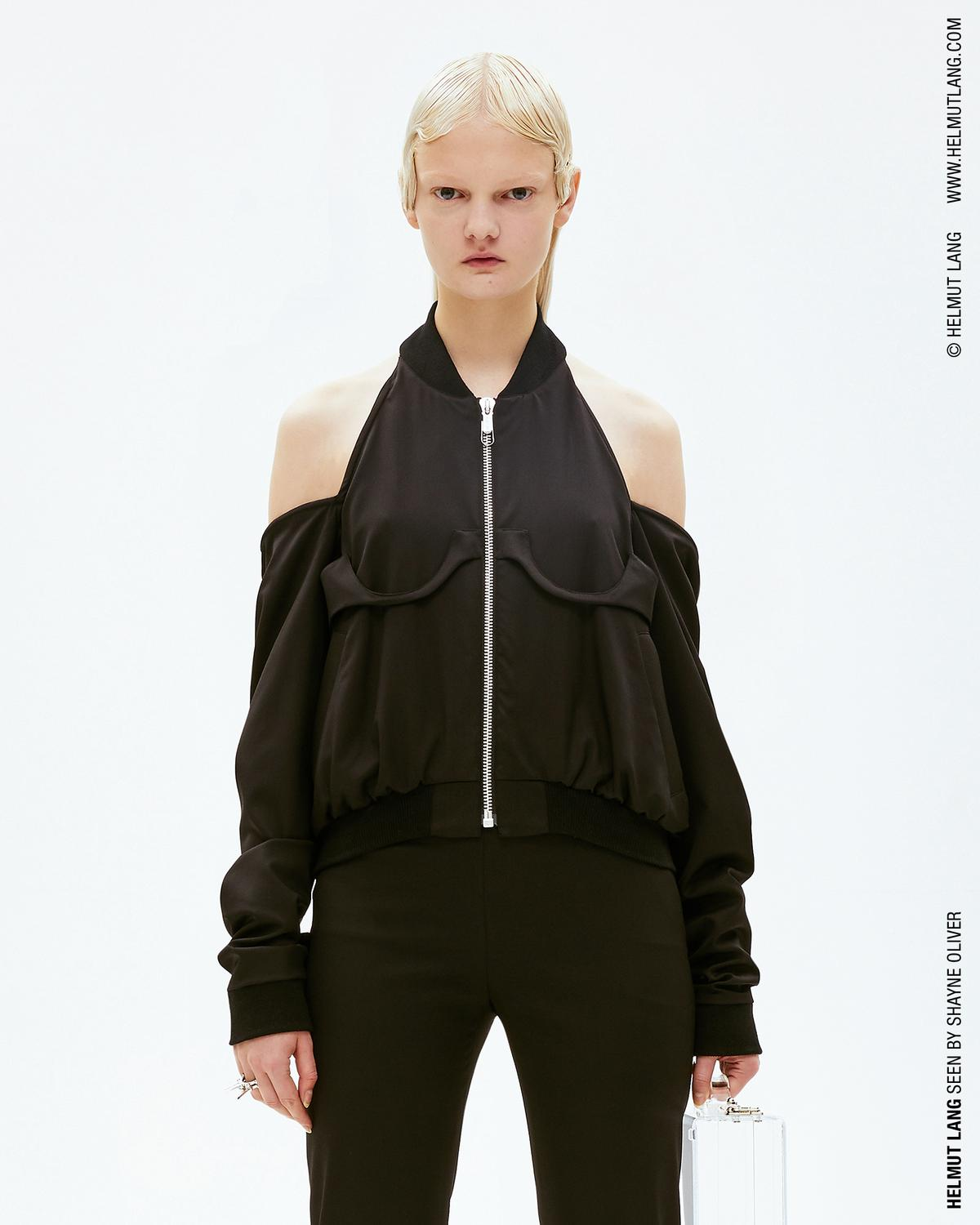 CUT OUT SHOULDER BOMBER