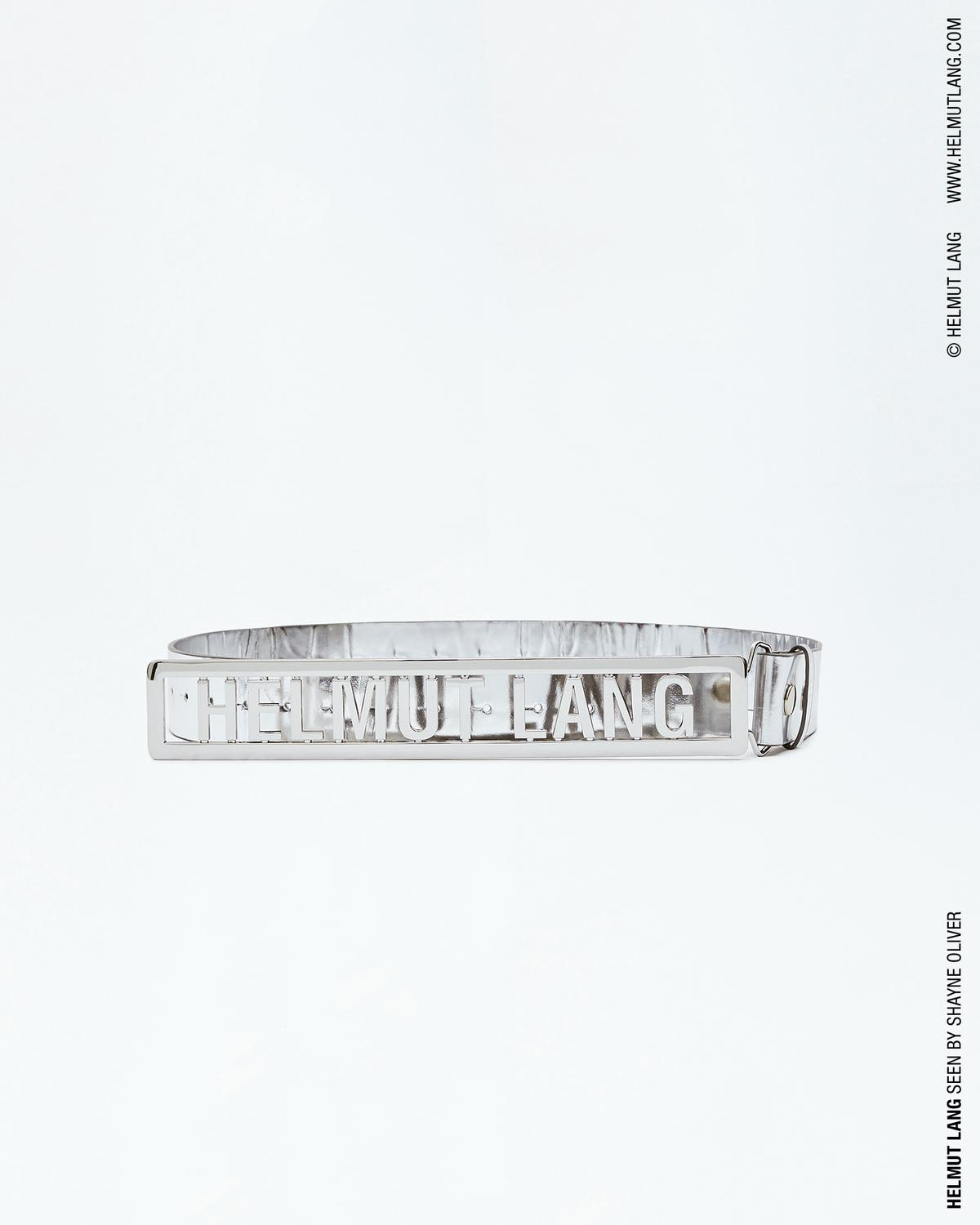 HELMUT LANG NAME PLATE BELT