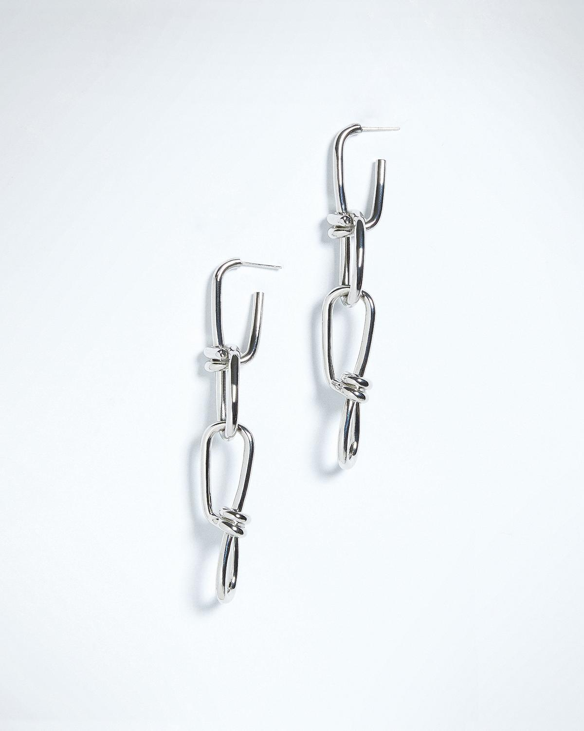 DOUBLE LOCK LINK EARRINGS