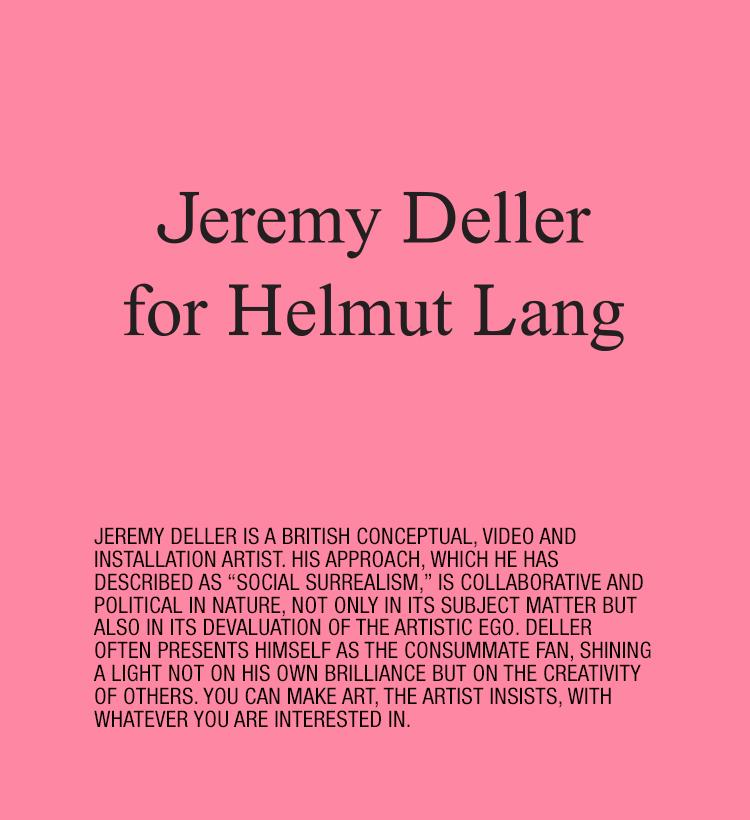 Helmut Lang Jeremy Deller Capsule Collection Mobile
