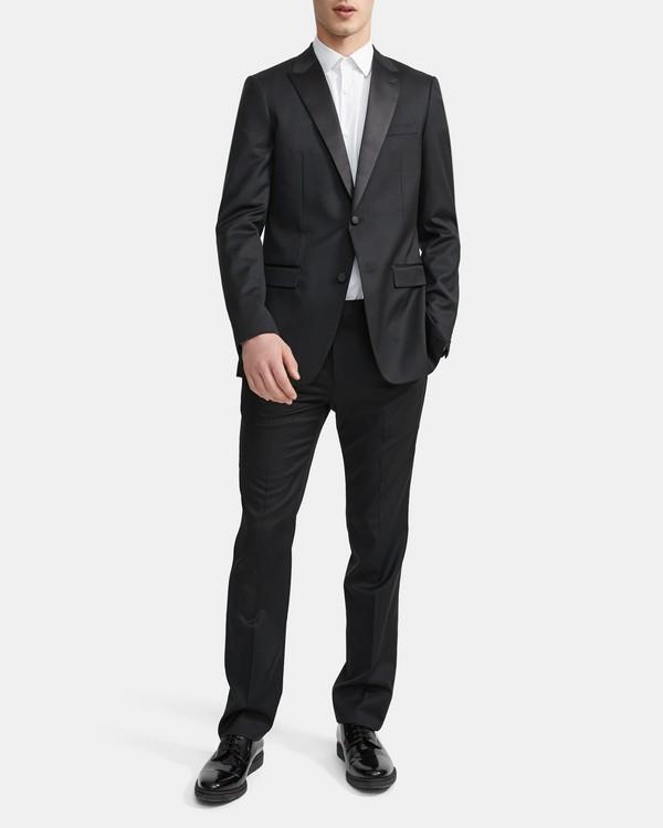 띠어리 자켓  Theory Wool Wellar Tuxedo Blazer