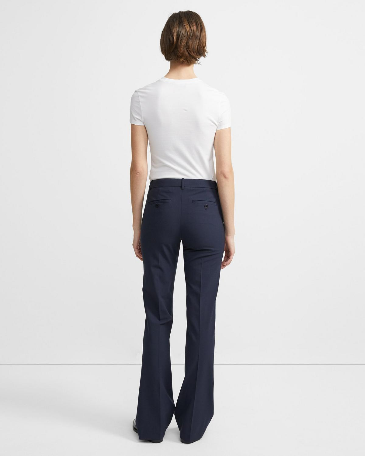 Stretch Wool Relaxed Straight Pant