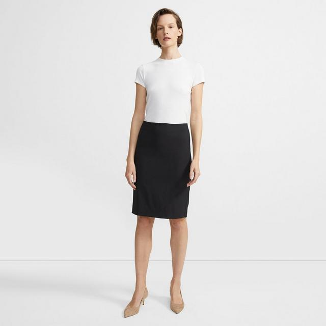 theory stretch wool pencil skirt theory