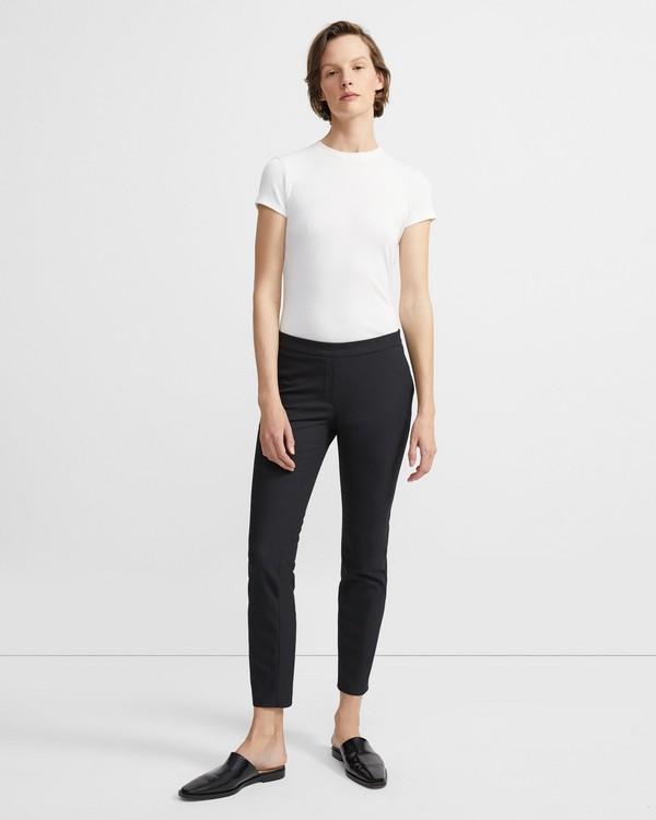띠어리 크롭 팬츠 블랙 Theory Stretch Cotton Crop Pant,BLACK