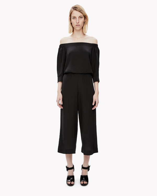 Silk Off-The-Shoulder Jumpsuit