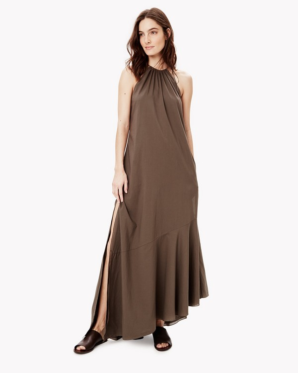 Cotton Asymmetrical Maxi Dress