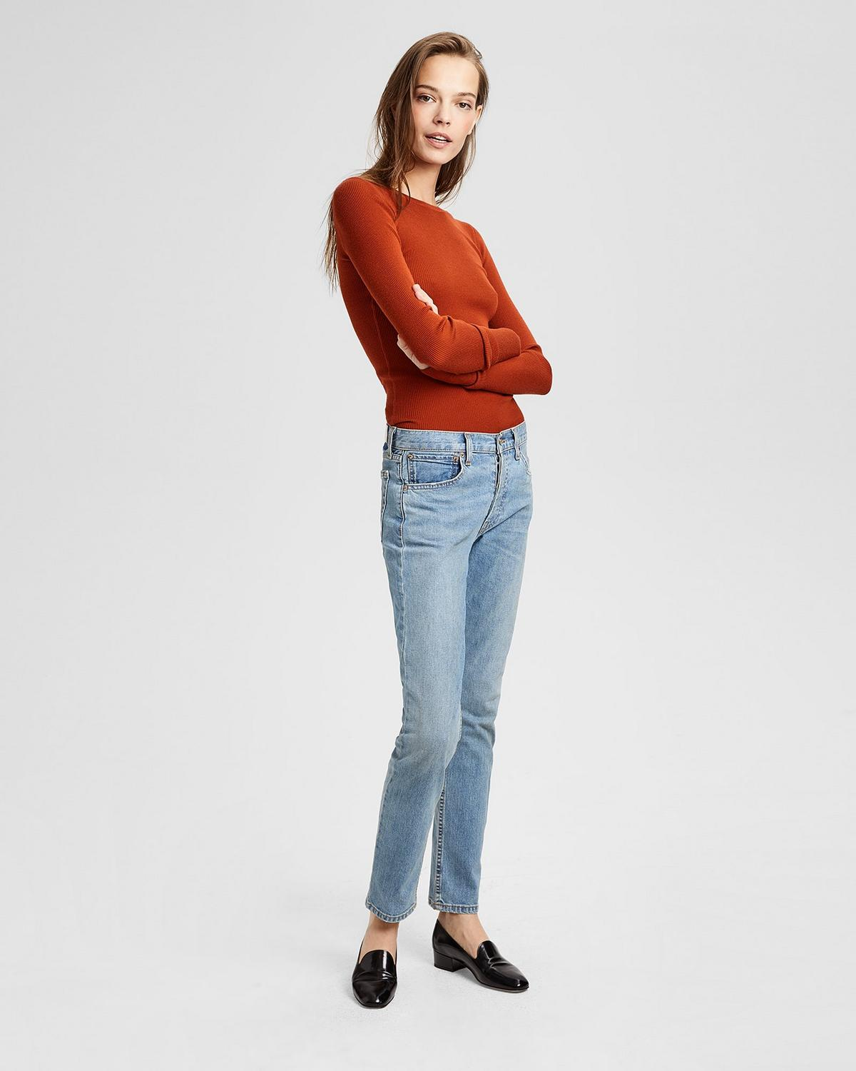RE/DONE STRAIGHT SKINNY JEAN