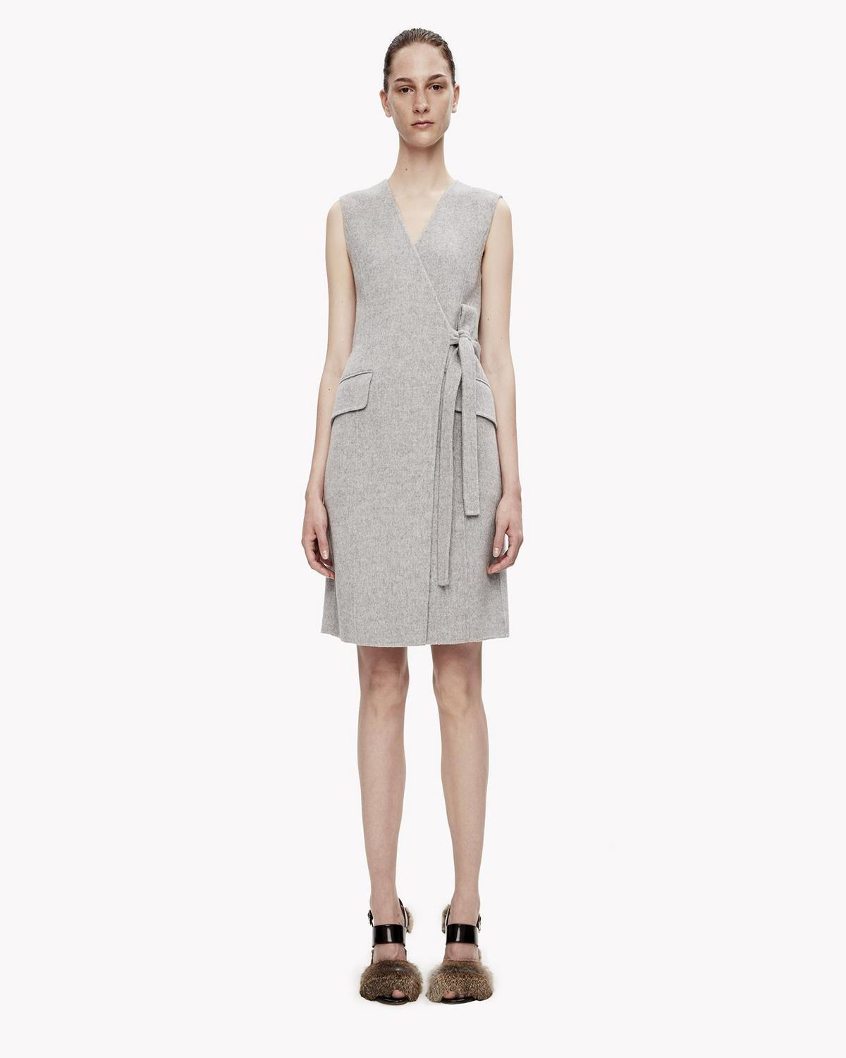 Ginia Cashmere Gowns Wrap Gown: Double-Face Wool-Cashmere Wrap Dress
