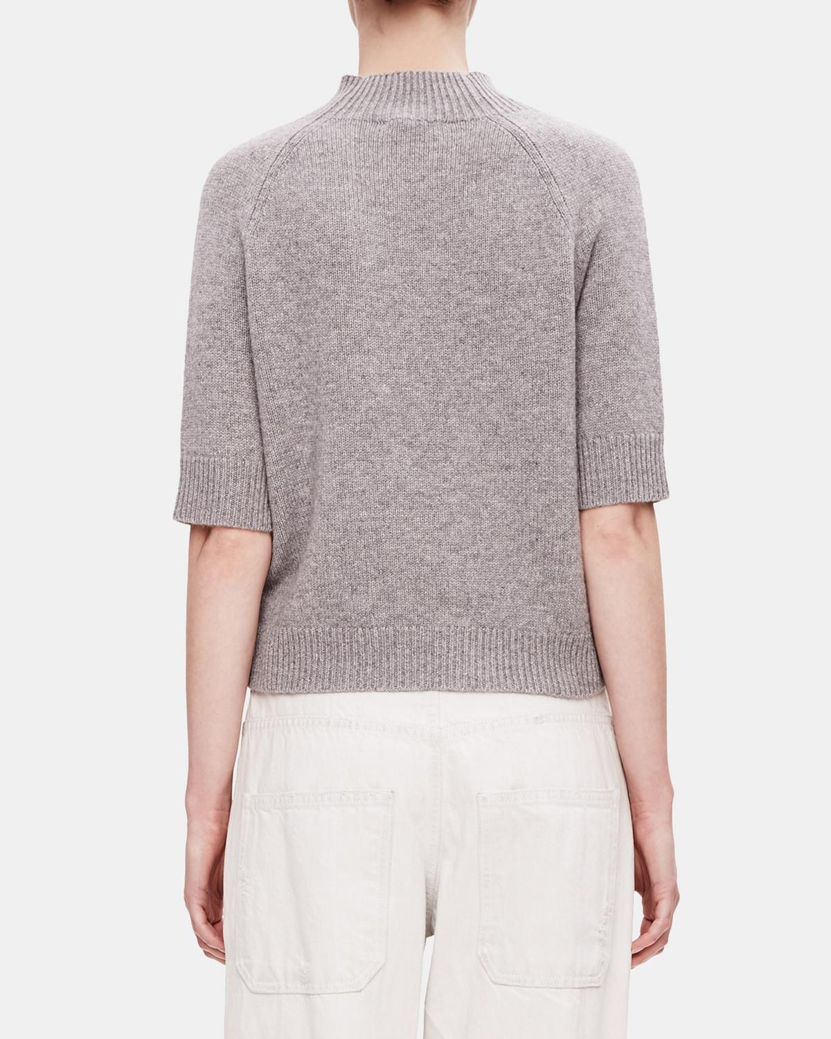 Classic Cashmere Mock Tee