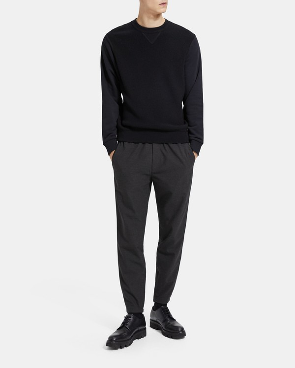 띠어리 Theory Tech Knit Jogger Pant,CHARCOAL