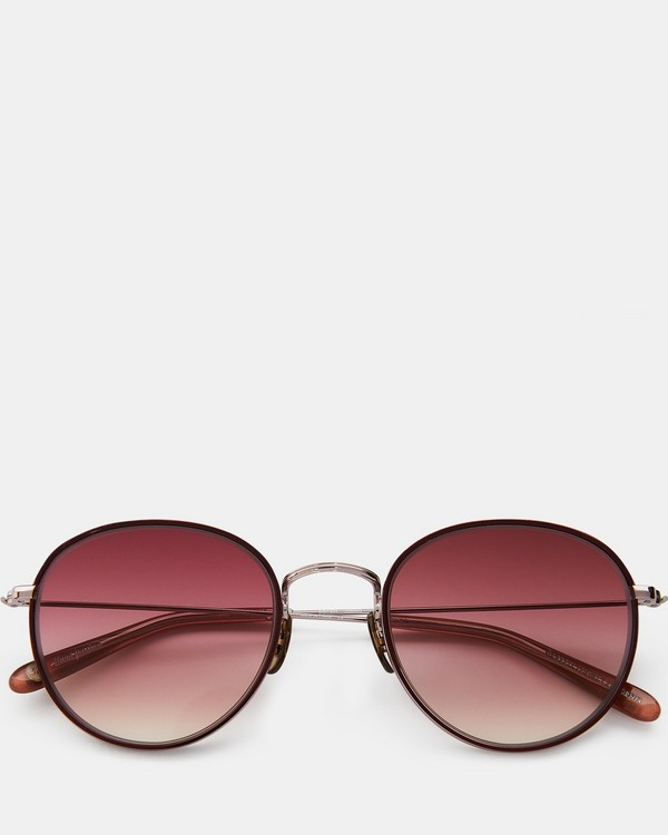 띠어리 Theory Garrett Leight Paloma Sunglasses,BURGUNDY