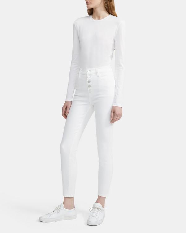 띠어리 Theory J Brand Lillie High-Rise Crop Skinny Jean,WHITE