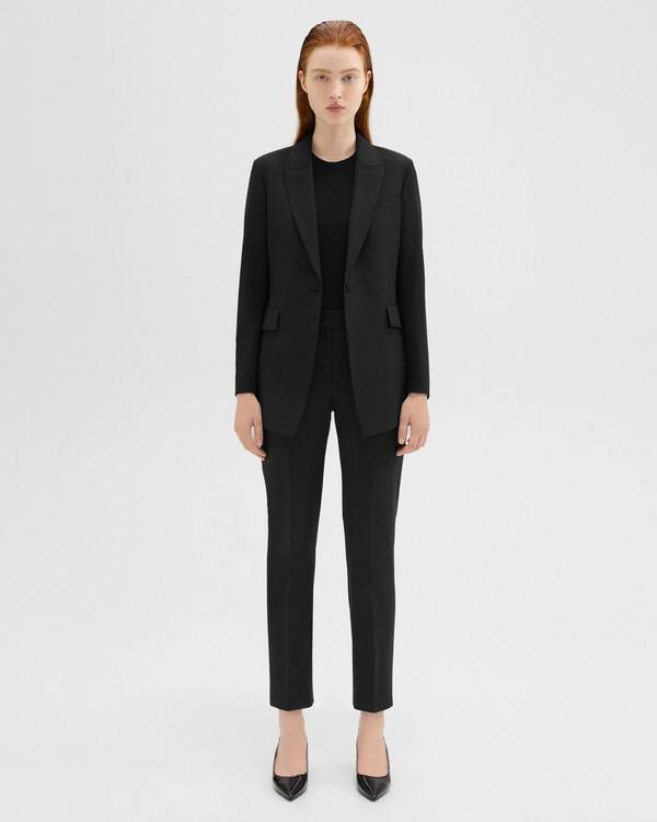 띠어리 굿 울 클래식 슬림 크롭 팬츠 - 5가지 색상 Theory Good Wool Classic Slim Crop Pant