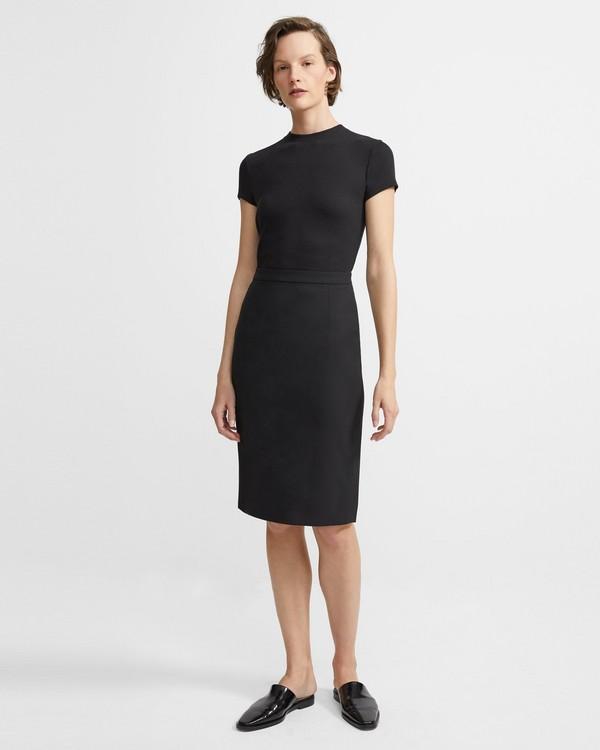 띠어리 스커트 Theory Good Wool Classic Skirt