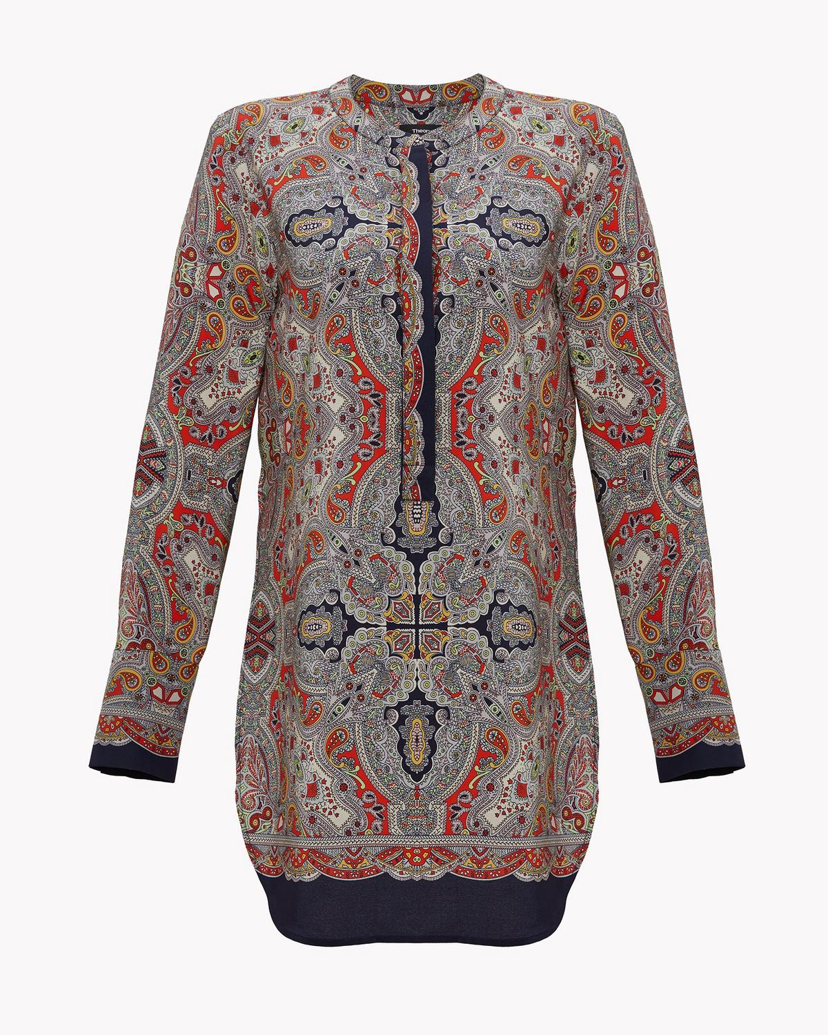 Scarf Print Belted Tunic