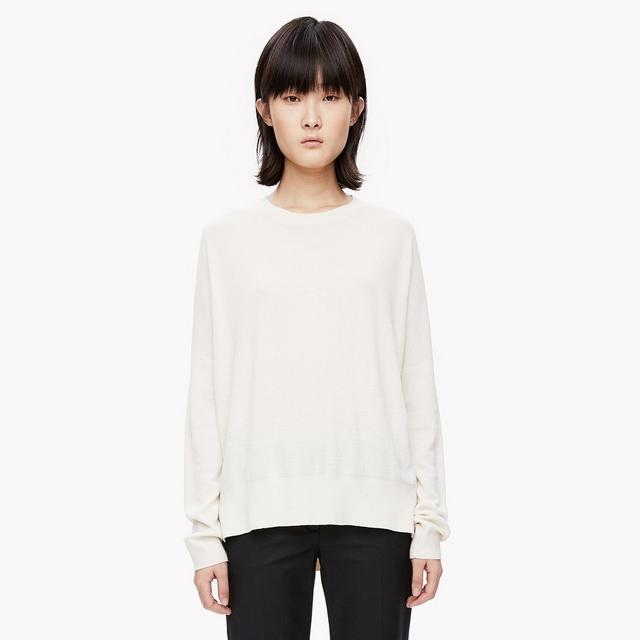 Silk-Cashmere Slouchy Pullover