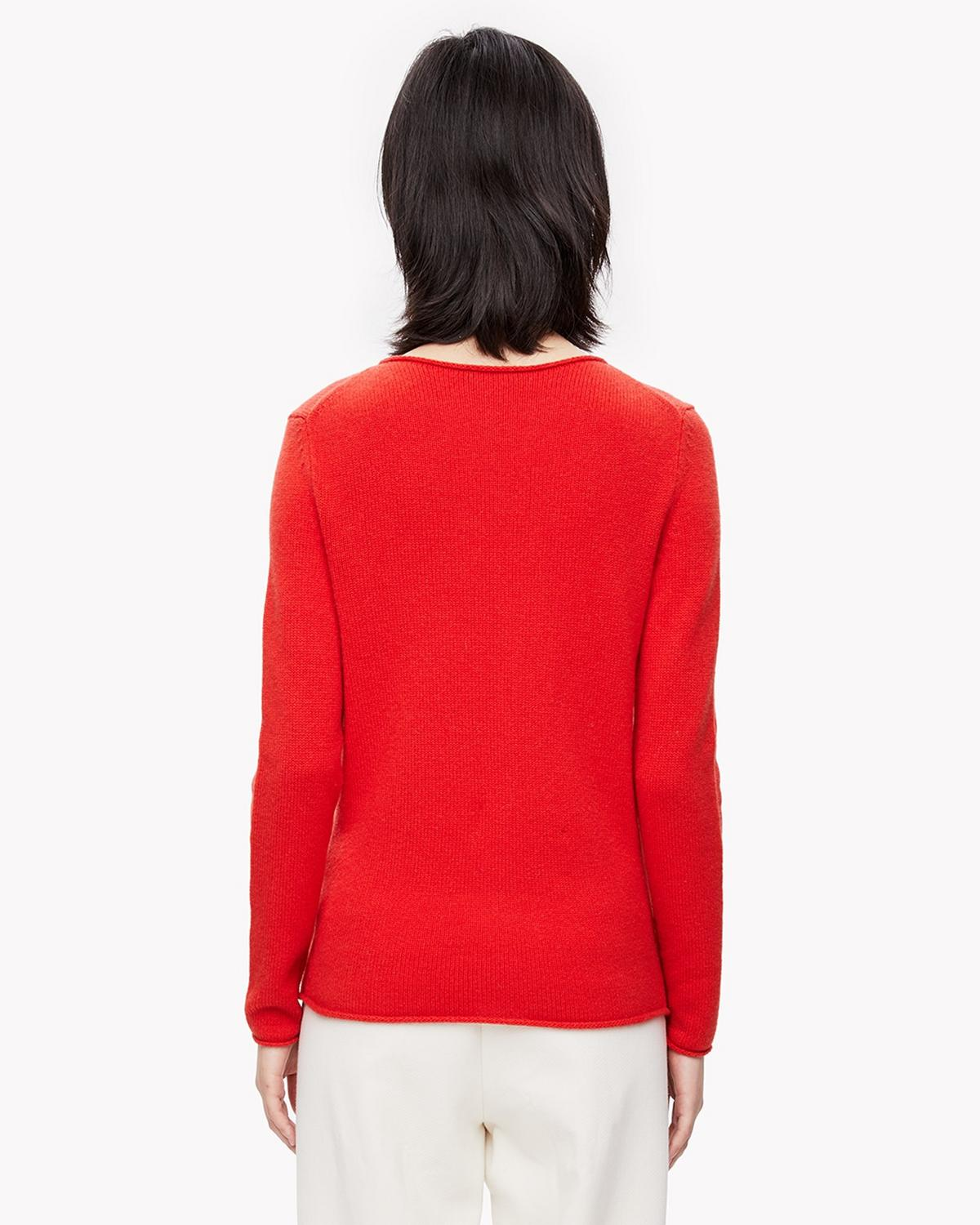 Cashmere Roll-Edge Sweater
