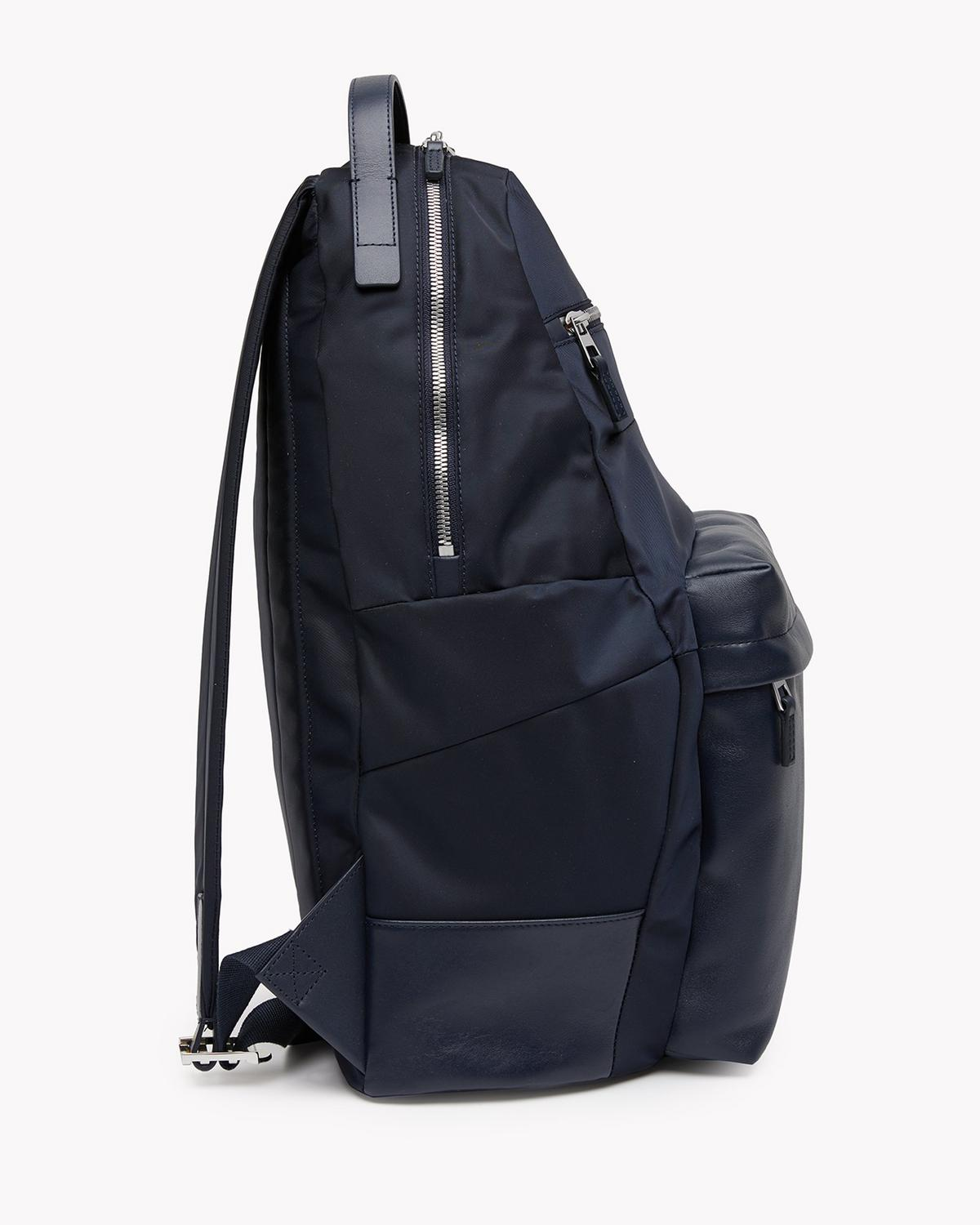 Backpack with Leather Pocket