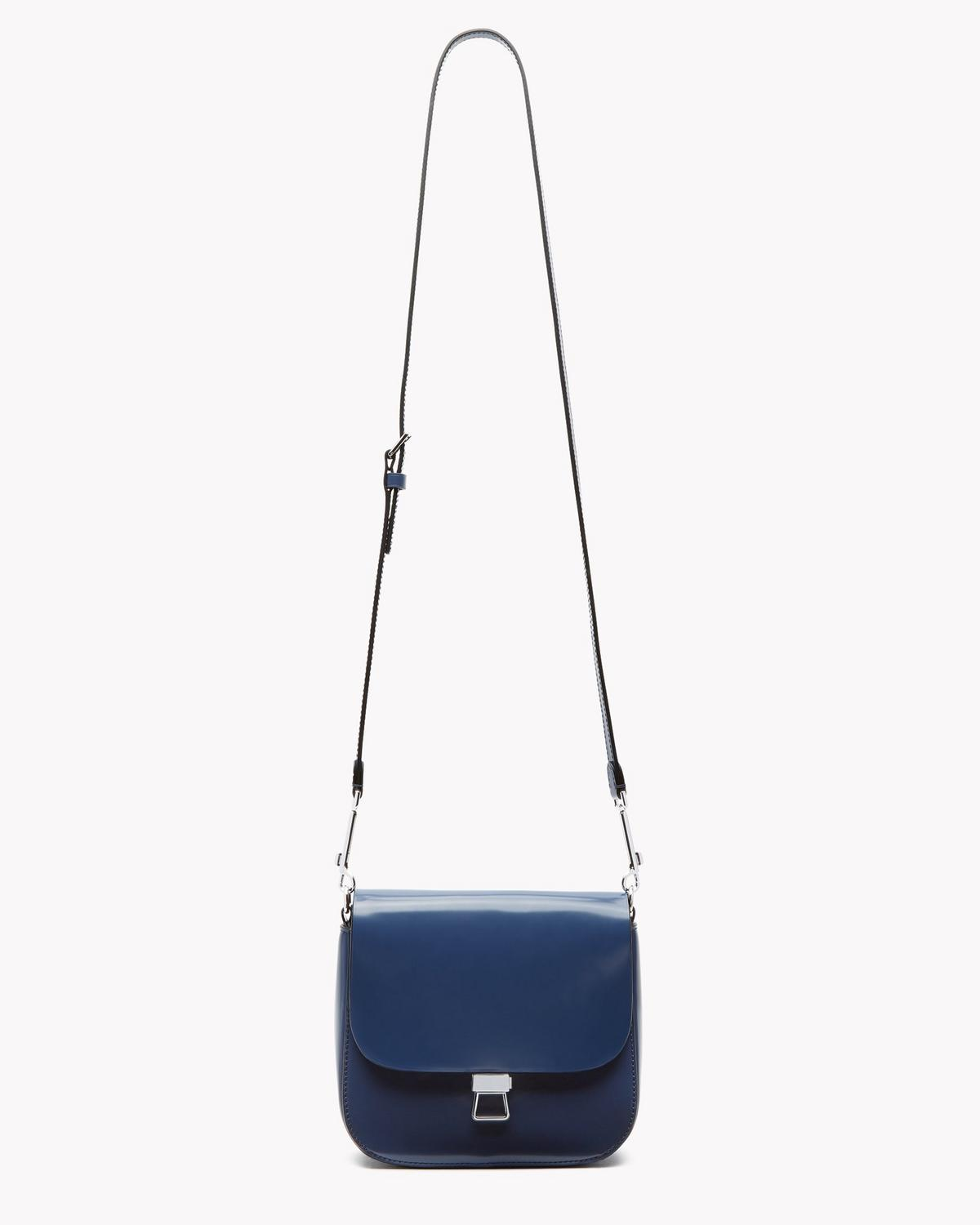 Perry Saddle Bag in Shiny Leather