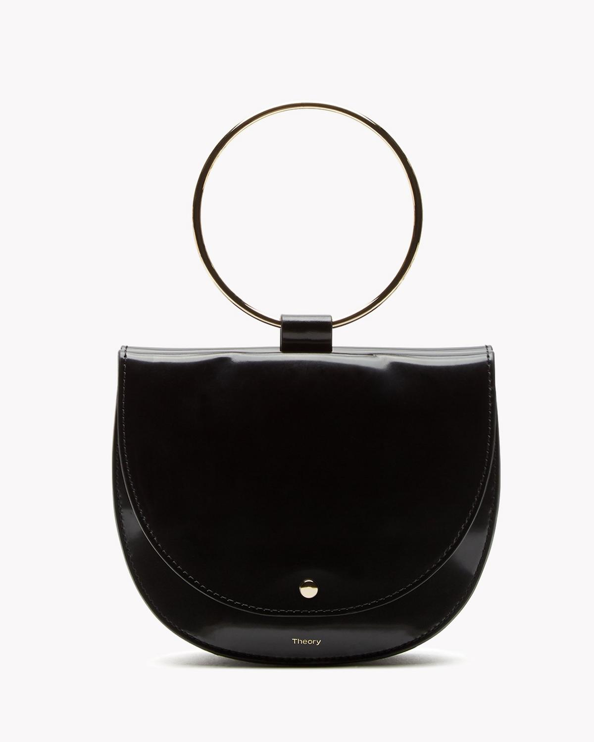 Whitney Hoop Bag in Shiny Leather