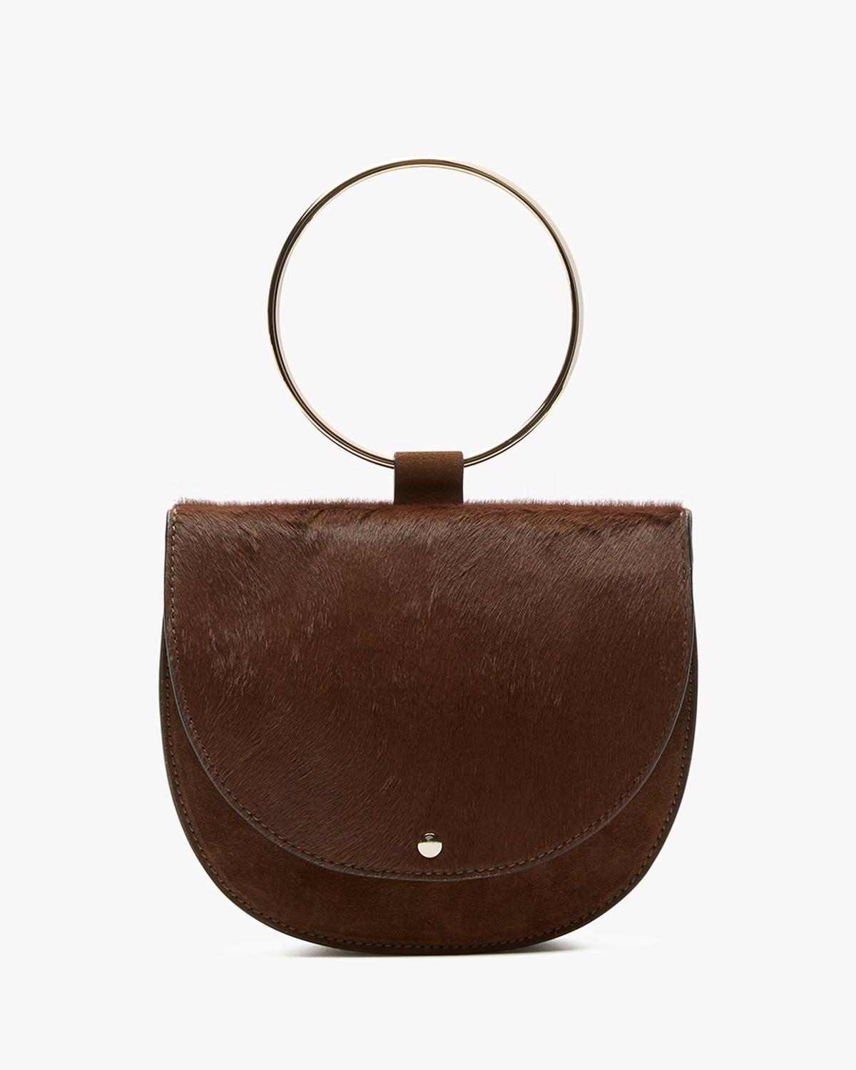 Whitney Hoop Bag in Calf Hair