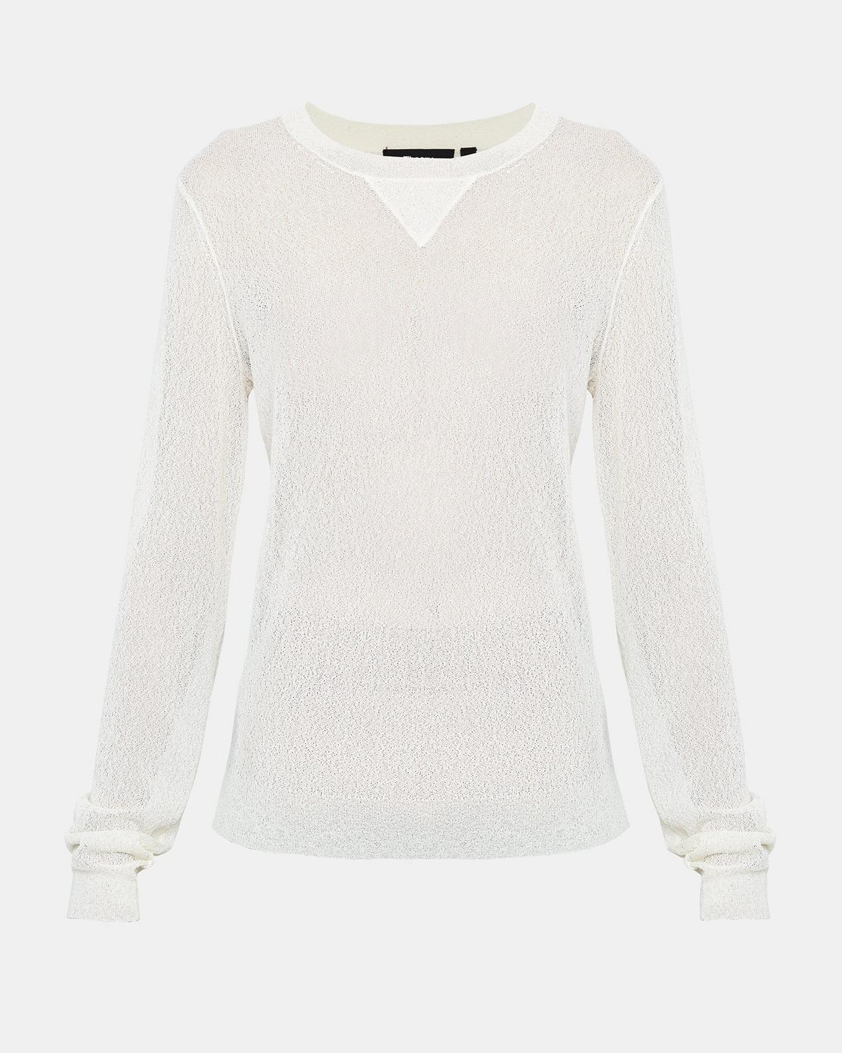 Crimped Knit Pullover