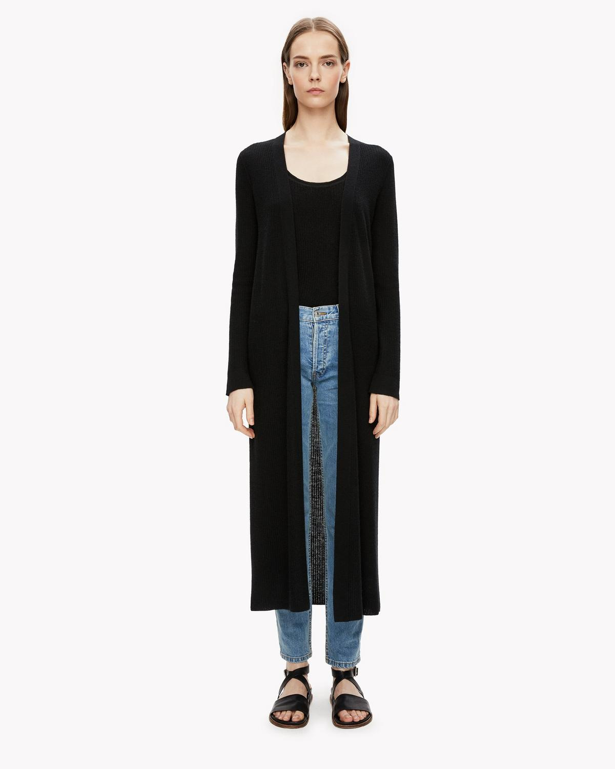Textured Maxi Cardigan | Theory