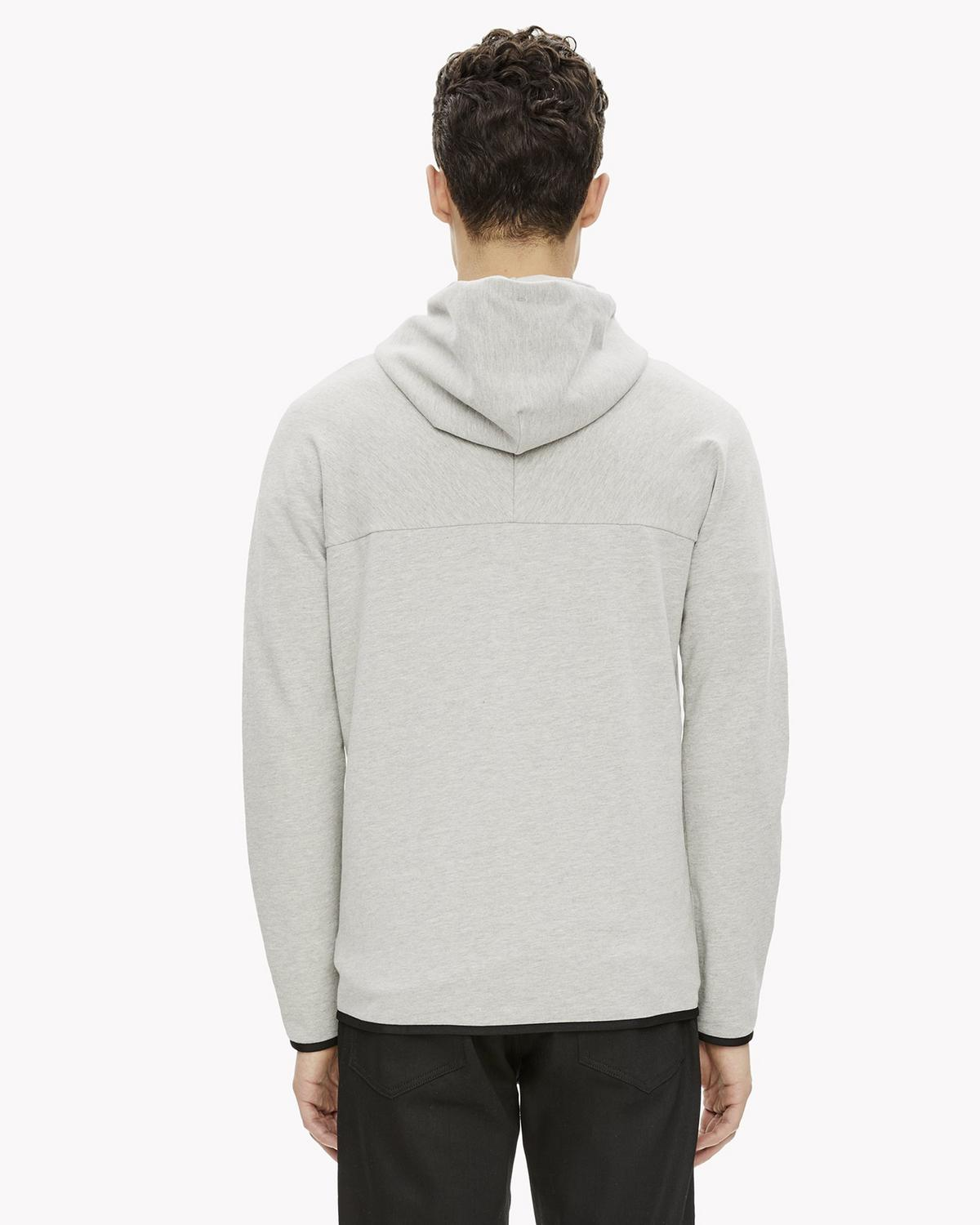 Stretch Terry Hooded Zip Sweatshirt