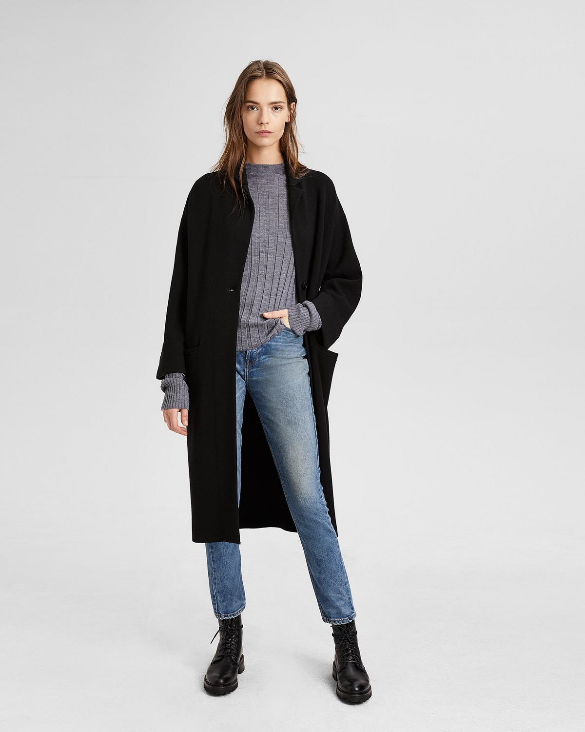 CARDIGAN WOOL COAT