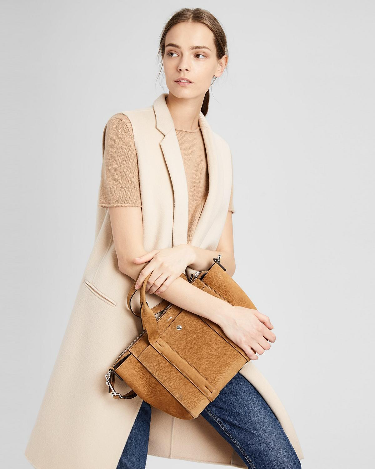 SMALL STANDARD TOTE IN NUBUCK LEATHER
