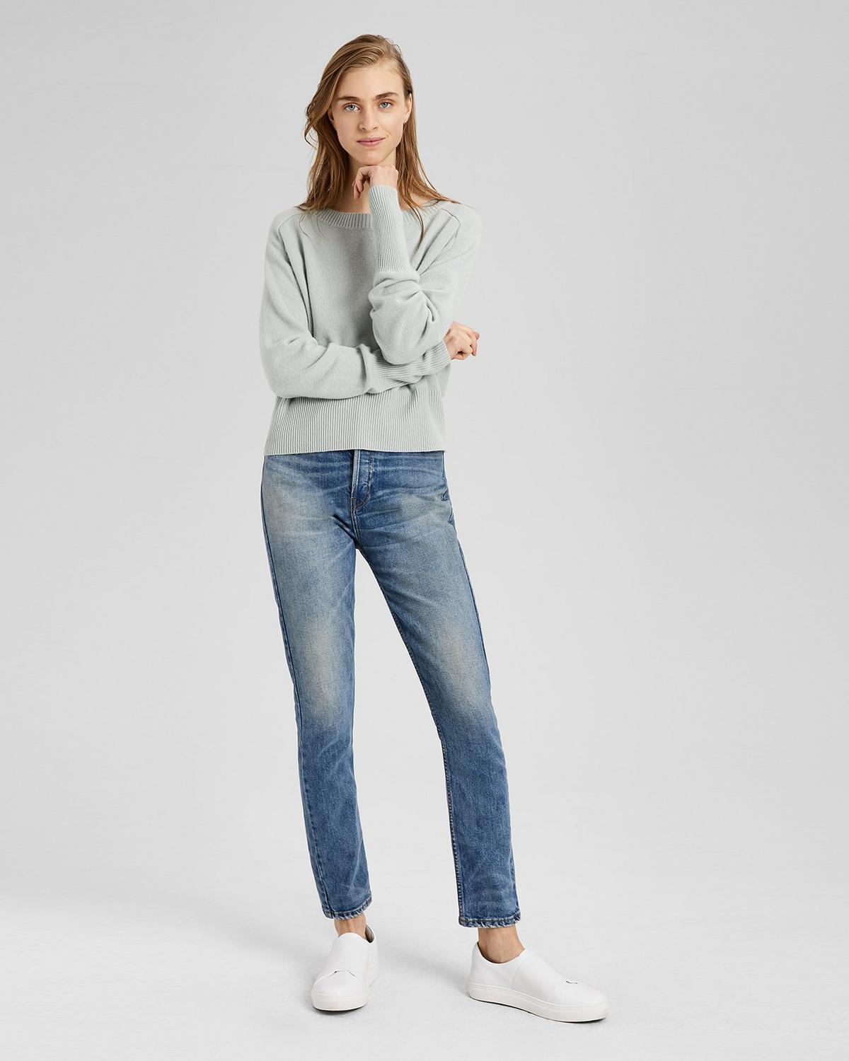 Cashmere Relaxed Boat Pullover
