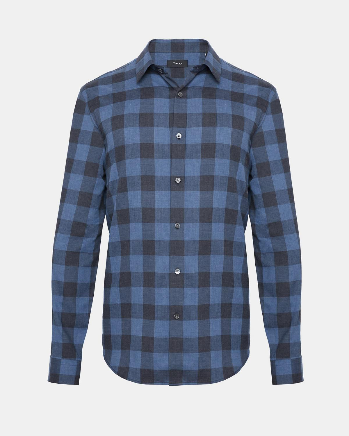 Brushed Check Clean Placket Shirt