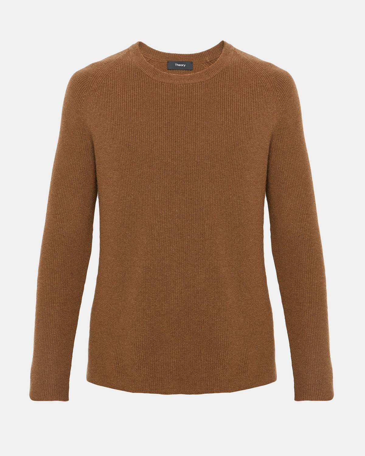 Cashmere Ribbed Raglan Sweater