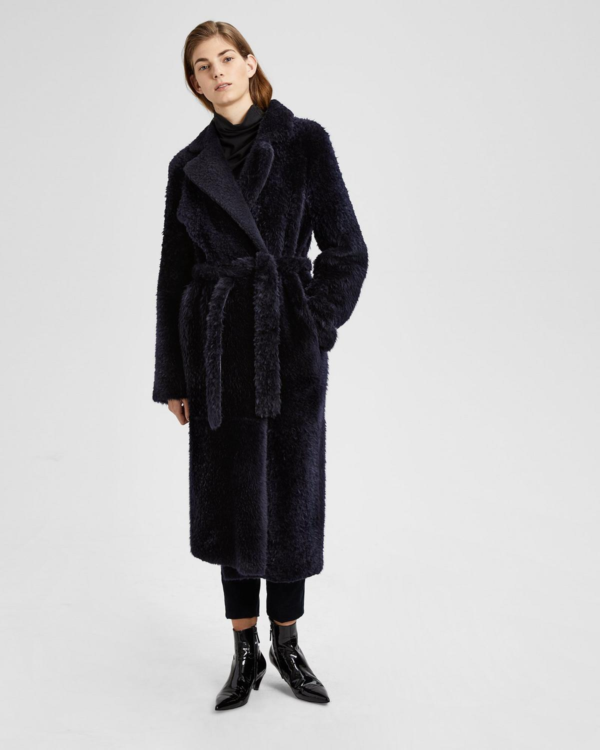 SHEARLING RELAXED COAT