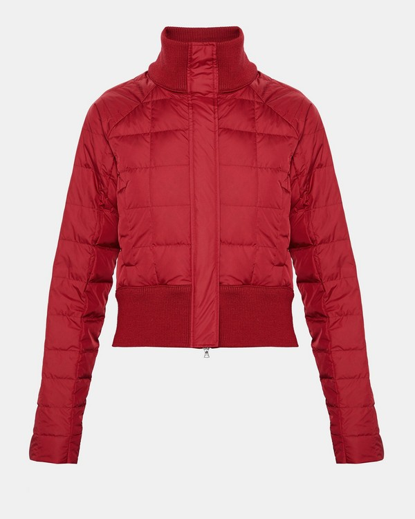 띠어리 Theory Ultralight Nylon Layer Bomber Jacket,DEEP RUBY