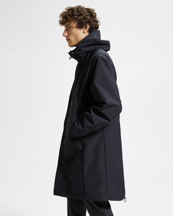 띠어리 맨 몬트로즈 파카 코트 - 블랙 Theory Montrose Coat Shell,BLACK