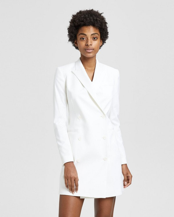 띠어리 Theory Wool Blazer Dress,WHITE