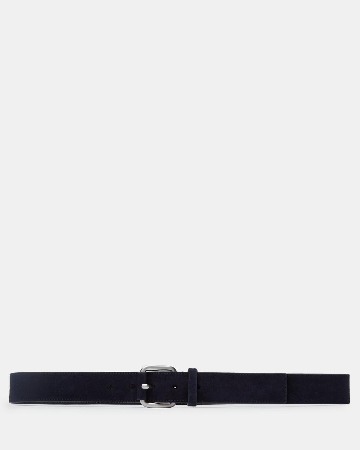 Suede Roller Buckle Belt by Theory