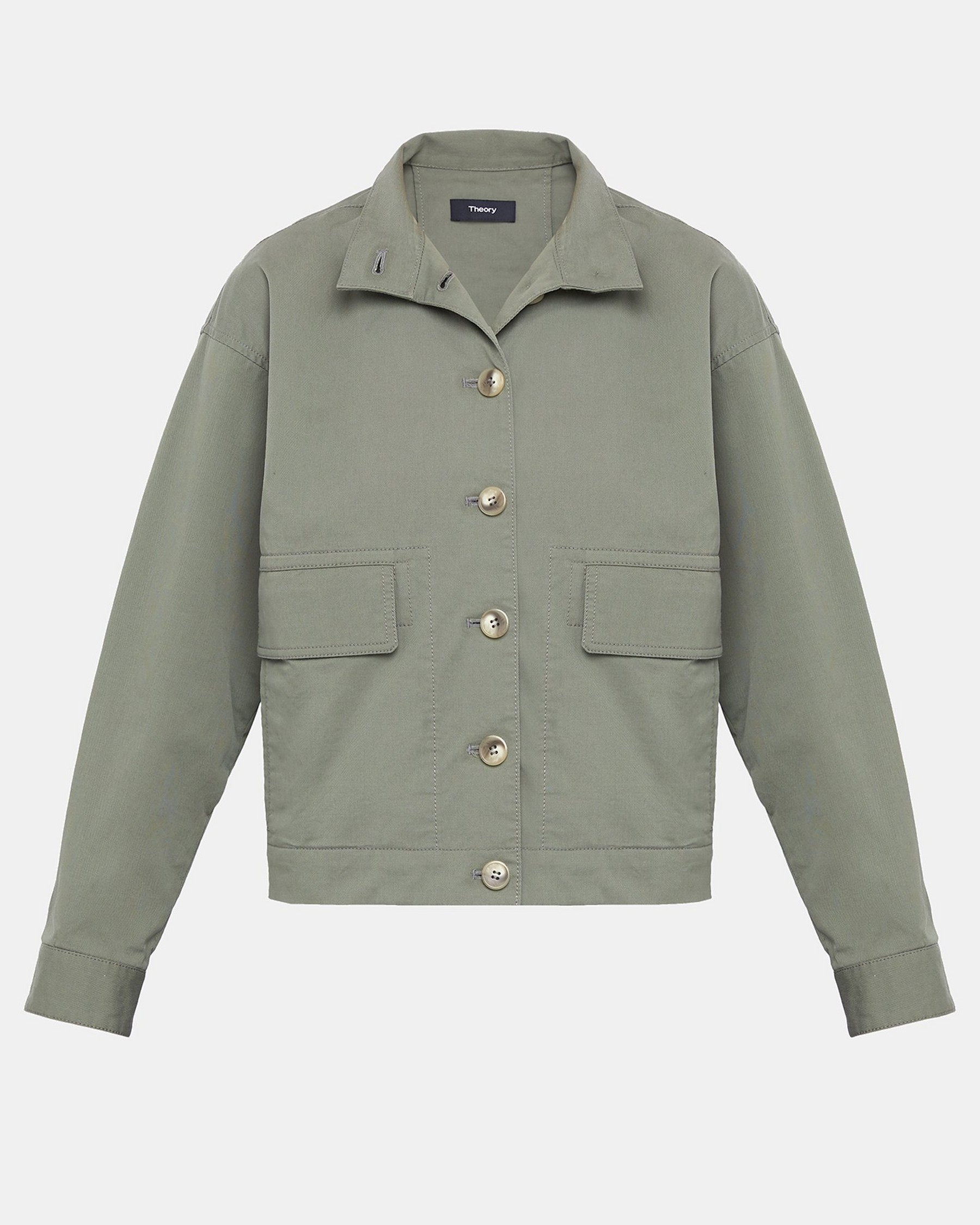 Casual Twill Blouson Bomber Jacket by Theory