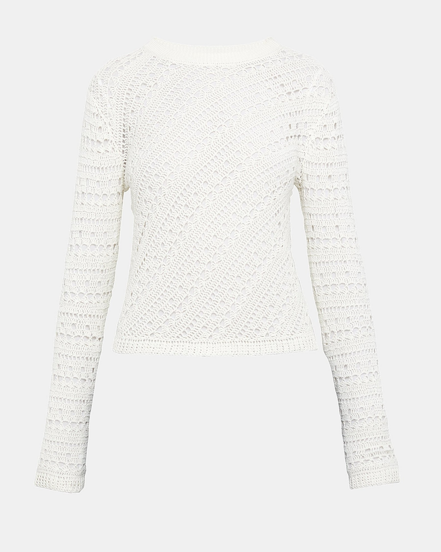 Cotton Crochet Crewneck by Theory