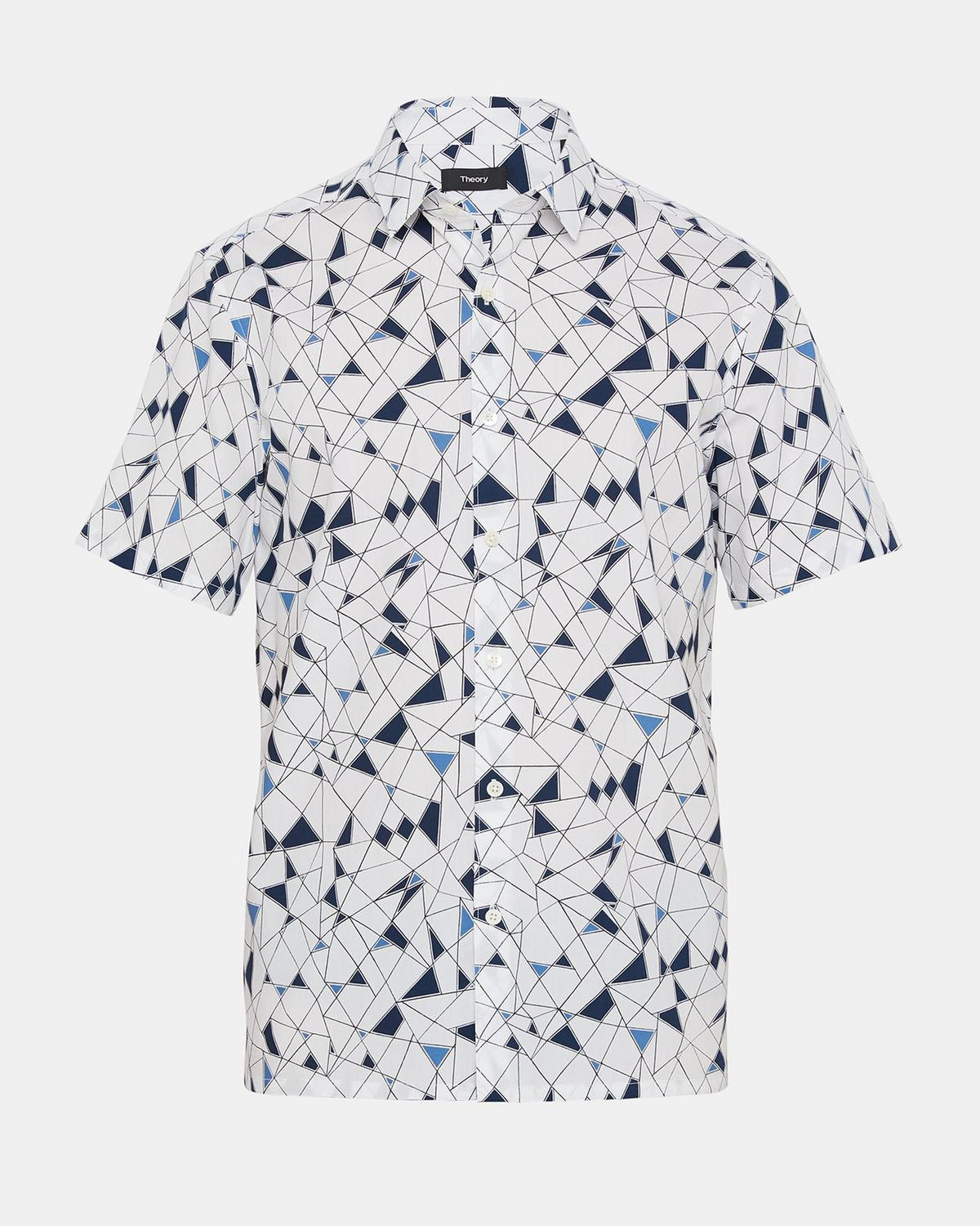 Abstract Print Shirt by Theory