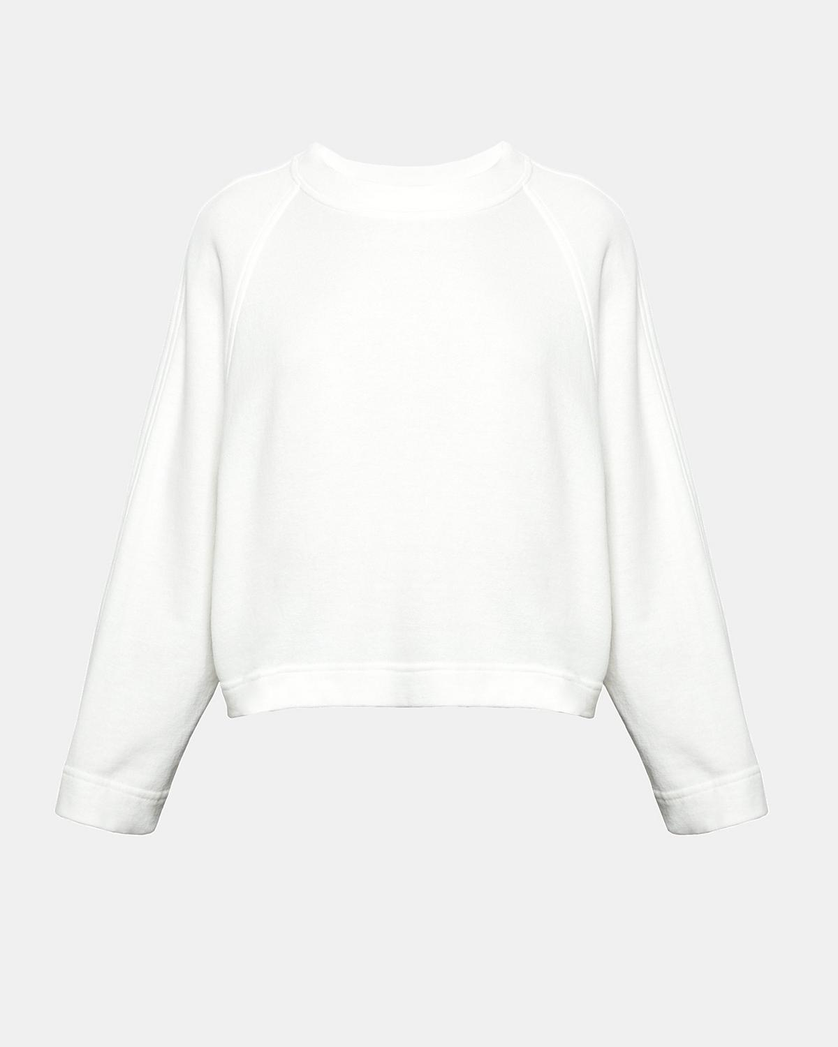 Cotton Terry Raglan Crew Pullover by Theory