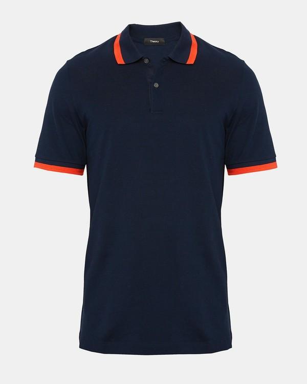 띠어리 Theory Cotton Pique Bold Striped Polo