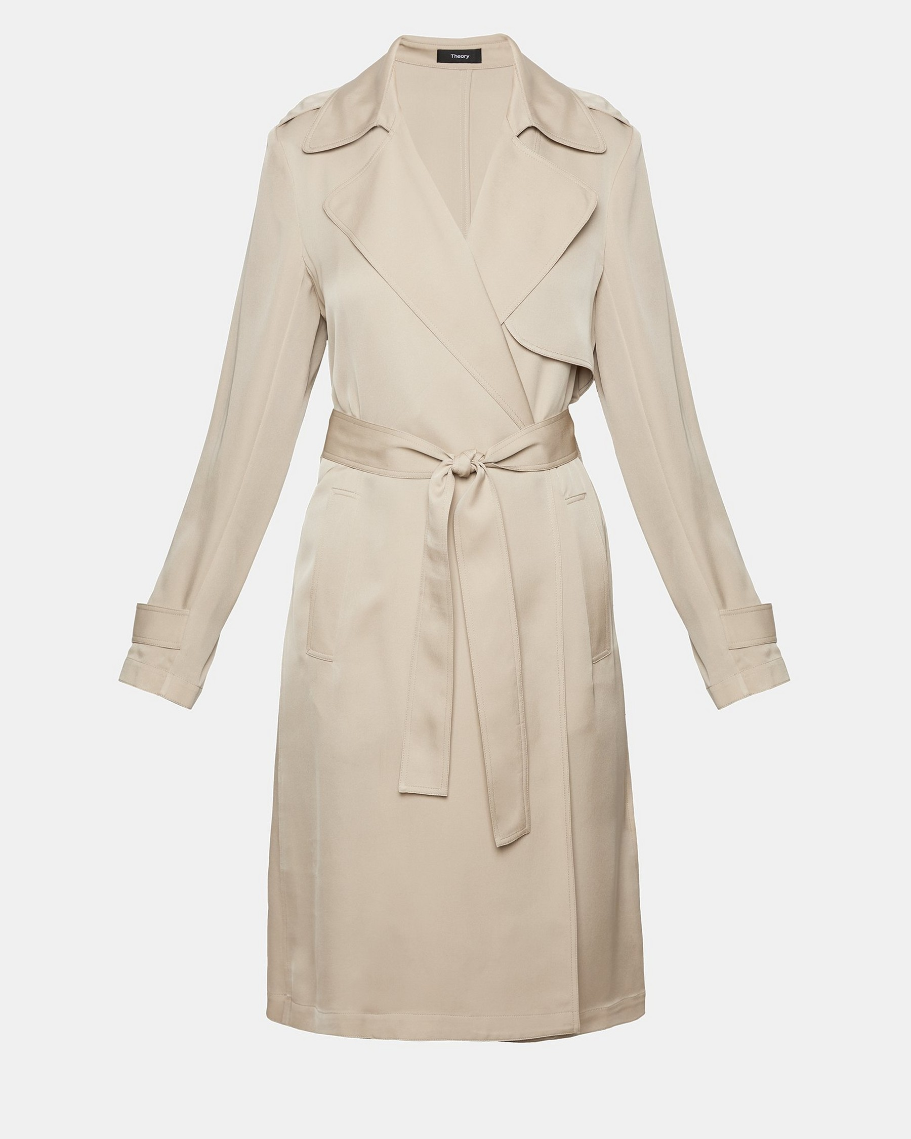 Silk Belted Trench Coat by Theory