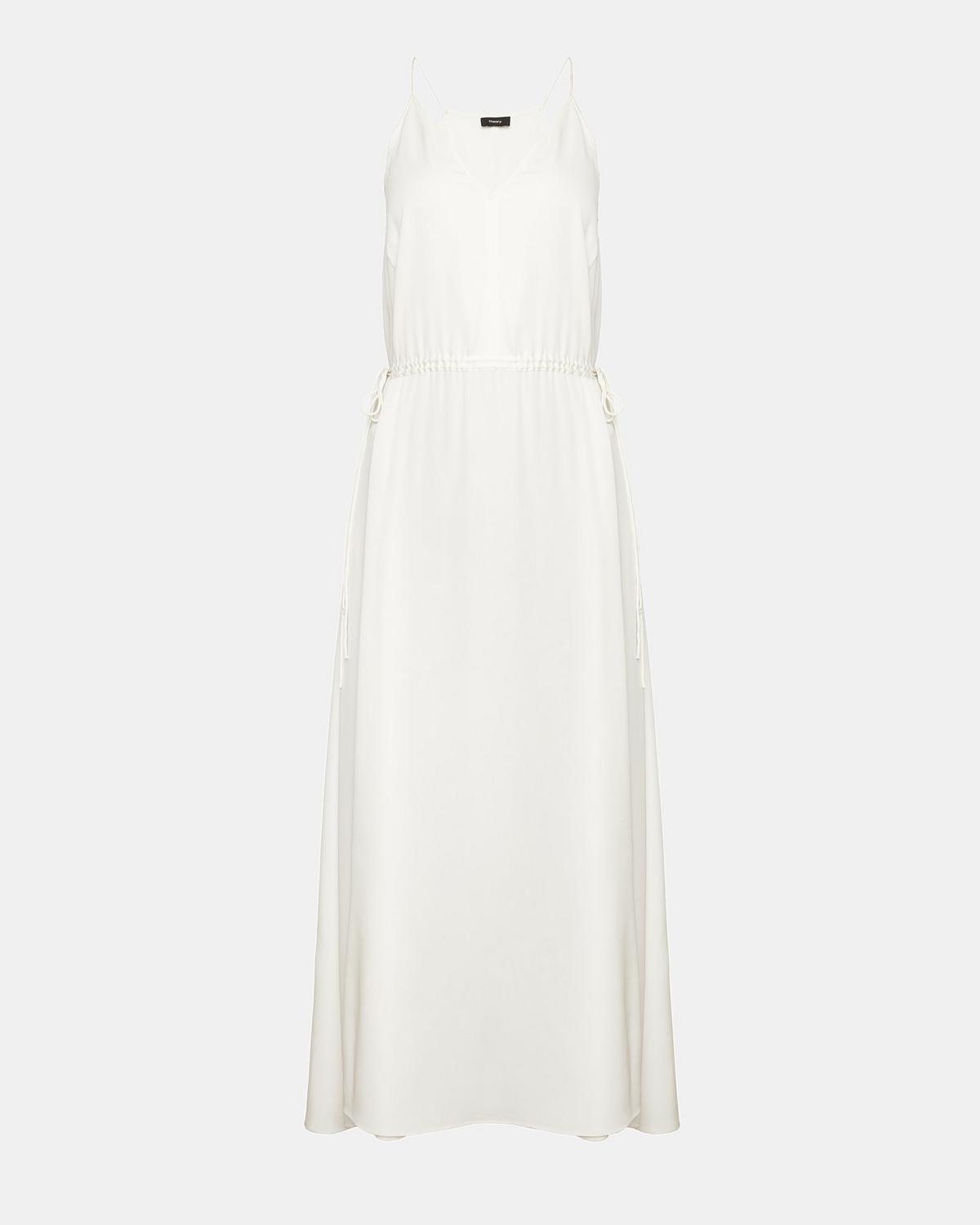 Silk Relaxed V Maxi Dress by Theory