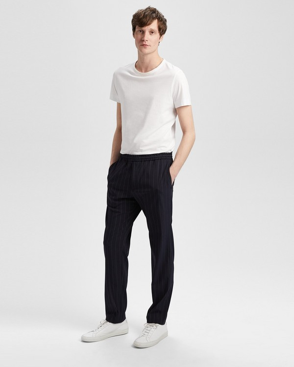 띠어리 Theory Wool Blend Dashed Pinstripe Pant,ECLIPSE STRIPE