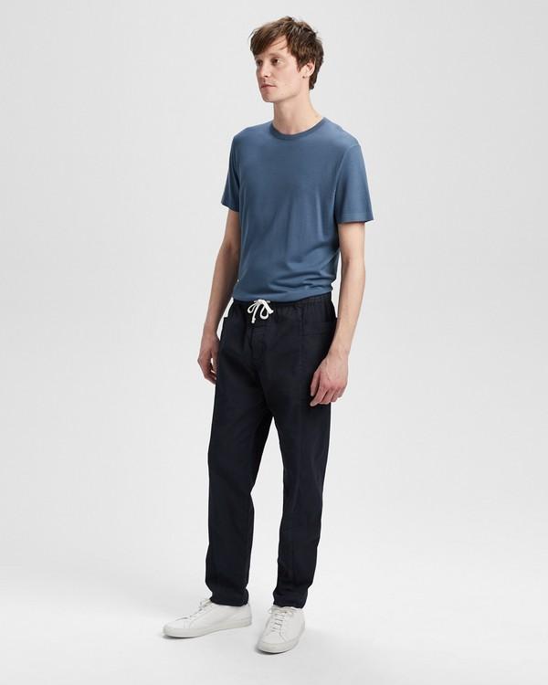 띠어리 긴바지 Theory Garment-Washed Drawstring Pant,ECLIPSE