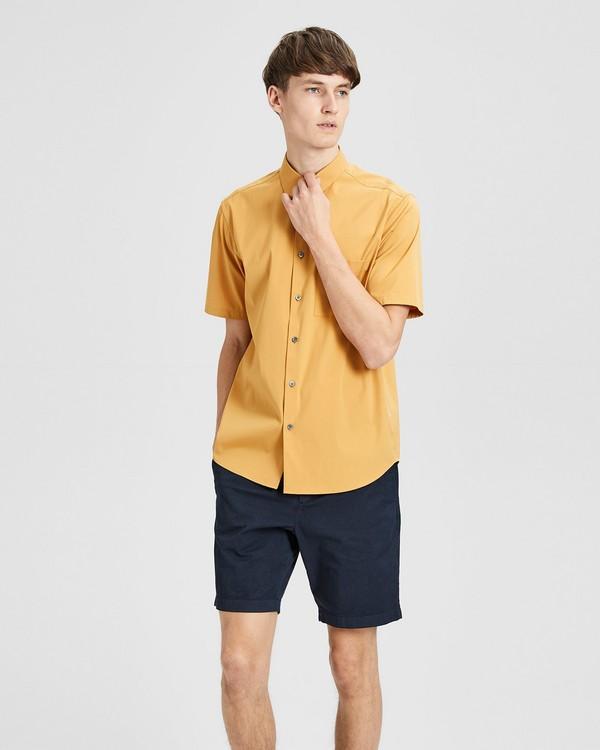띠어리 Theory Stretch Cotton Relaxed-Fit Short-Sleeve Shirt