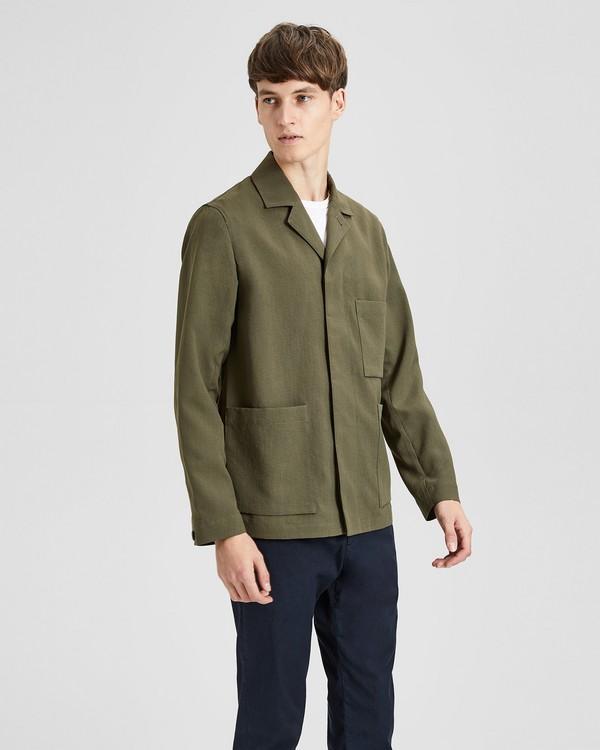 띠어리 Theory Worker Jacket,KHAKI GREEN